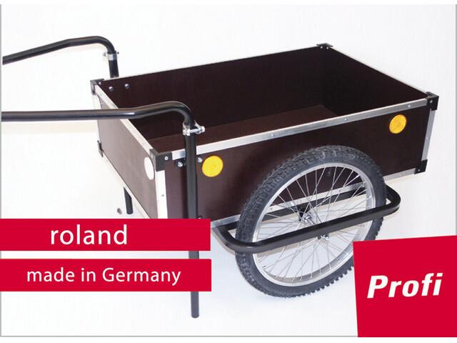"Roland Profi - Remorque vélo - 20"" double timon marron"
